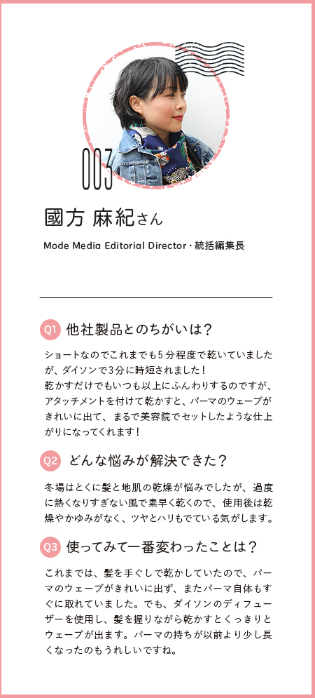 國方 麻紀さん、Mode Media Editorial Director・統括編集長